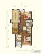 国信南山3室2厅3卫160平方米户型图