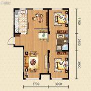 新湖青蓝国际3室2厅1卫95平方米户型图