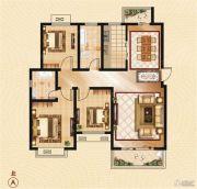 香山华府3室2厅2卫131--132平方米户型图