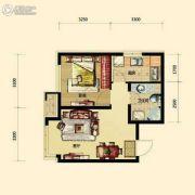 保利香槟国际1室1厅1卫52平方米户型图