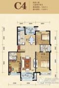 领秀慧谷3室2厅2卫140平方米户型图