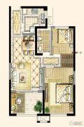 四季金辉2室2厅1卫67平方米户型图