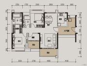 肇庆敏捷城3室2厅2卫113平方米户型图