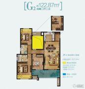 路劲・诺丁山4室2厅2卫122平方米户型图