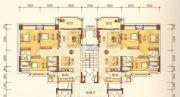 澳华新城3室2厅2卫98平方米户型图