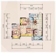 �R豪领逸4室2厅2卫127平方米户型图