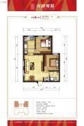 南湖观邸2室2厅1卫76平方米户型图