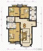 新华联运河湾3室2厅2卫140平方米户型图