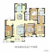 聚湖雅苑4室2厅2卫174平方米户型图