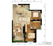 俊发・滨海俊园3室2厅1卫93平方米户型图