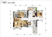 碧桂园中萃公园2室2厅2卫100--105平方米户型图