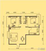 凤山龙城2室2厅1卫99平方米户型图