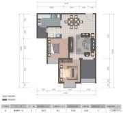 医大广场2室2厅1卫72平方米户型图