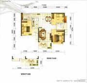满京华喜悦里3室2厅1卫70平方米户型图