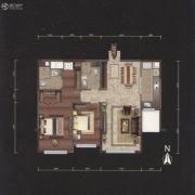 越秀星汇云锦2室2厅2卫123平方米户型图