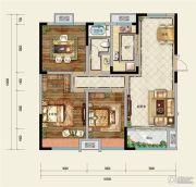 凤凰星城3室2厅1卫100--130平方米户型图