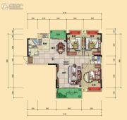 宏�S・缇香郡3室2厅2卫124平方米户型图