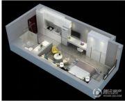 中电颐和府邸1室1厅1卫43平方米户型图