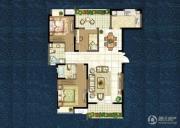 世茂香槟湖3室2厅2卫116平方米户型图