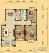 南越・西城华府3室2厅1卫108平方米户型图
