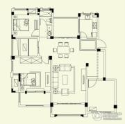 融侨观邸3室2厅2卫126平方米户型图