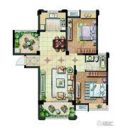 保利香槟国际2室2厅1卫89平方米户型图