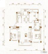 运通叁�第3室2厅2卫128000平方米户型图