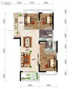 保利时代3室2厅2卫115平方米户型图