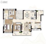 广州亚运城3室2厅2卫120平方米户型图