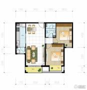 北京城建・世华泊郡2室2厅1卫89平方米户型图