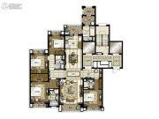 橡逸湾4室2厅3卫200平方米户型图