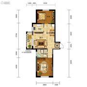 五矿・弘园2室2厅1卫89平方米户型图