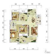华润中央公园3室2厅2卫136平方米户型图