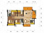 优格国际3室2厅2卫120平方米户型图