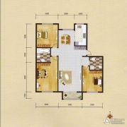 蓝远名城3室2厅2卫123平方米户型图
