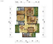 万象国际城2室2厅2卫127平方米户型图
