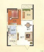 天鹅第一城1室2厅1卫50平方米户型图