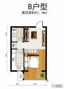 观山悦1室1厅1卫0平方米户型图