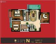 智慧新城3室2厅1卫102平方米户型图