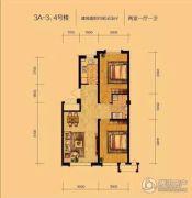 辽阳泛美华庭2室1厅1卫80平方米户型图