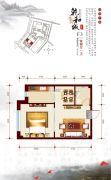 乾和城1室2厅1卫60平方米户型图