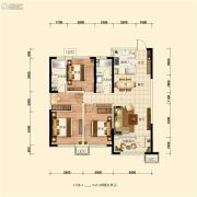 五矿・沈河金城3室2厅2卫115平方米户型图