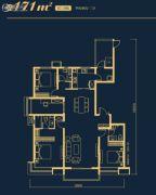 万科高新华府4室2厅3卫171平方米户型图