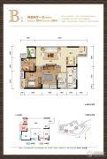 财信渝中城2室2厅1卫87平方米户型图