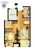 万科MixTown1室2厅1卫0平方米户型图