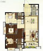 龙湖首开天宸原著3室2厅2卫95平方米户型图