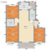 城虢和院3室2厅2卫88平方米户型图