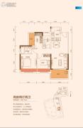 TCL康城四季2室2厅2卫87--88平方米户型图