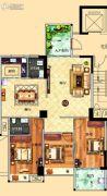 鸿泰华府3室2厅2卫127平方米户型图