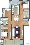 朗诗玲珑屿3室2厅2卫112平方米户型图